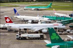 Aircraft at Dublin Airport