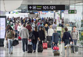 Passengers Dublin Airport