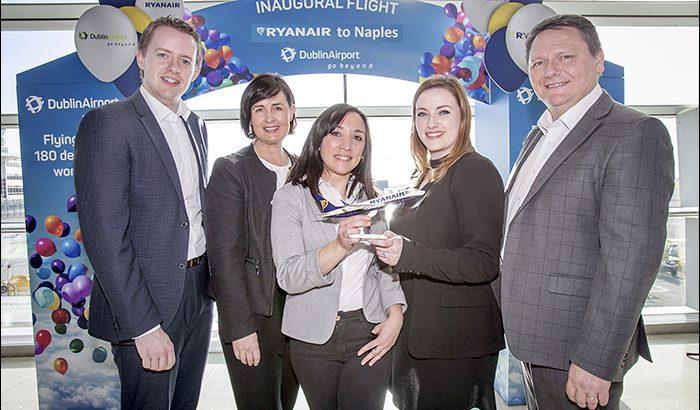 Dublin Airport DUB+ Ryanair Naples New Service