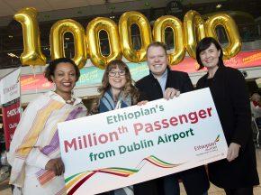 DUB+ Dublin Airport Ethiopian's Millionth Passenger